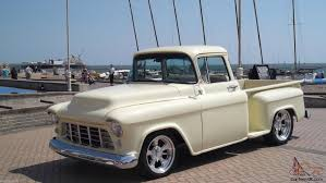 Truck chevy 1955 truck : 1955 Chevy Stepside Pickup Big Back Window Signed By Billy Gibbons ...