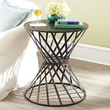 twisted drum table side tables pedestals wisteria