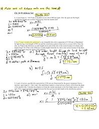 Wavelength Of Laser Light Formula Ch 24 Problem Set
