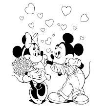 Leuk Voor Kids Mickey Minnie Mouse Zijn Verliefd