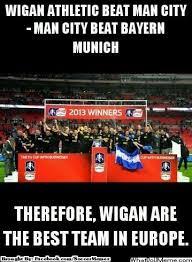 Wigan Athletic > Man City > Bayern Munich via Relatably.com