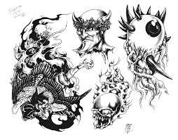 Motiv Tetování Peklo ďábel 272