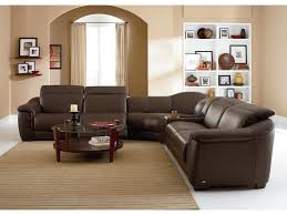 Natuzzi Editions B Contemporary Leather Reclining Sectional - Swivel recliner chairs for living room 2