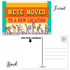 Announcement Postcards Weve Moved Locations Set Of 50 Moving Announcement Postcards