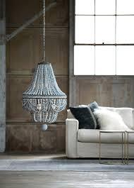 malibu wood bead 6 light chandelier