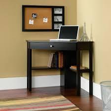image of small corner computer desk