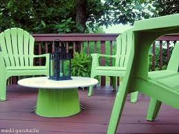 wonderful plastic adirondack chair and table update your outdoor space on the with bright apple