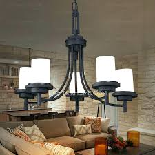 5 light black wrought iron chandeliers cylinder glass shade white chandelier crystal lighting
