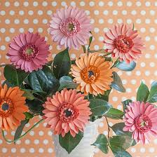 diy paper gerbera daisies frosted paper flowers