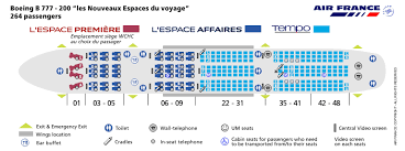 Boeing 777 200 Seating Chart Air France Airlines Boeing 777 200 Aircraft Seating Chart