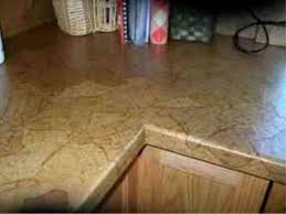 brown paper bag countertops and floors on