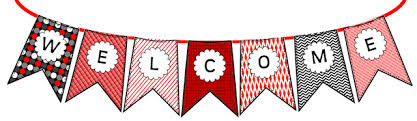 Image result for black and white welcome banner