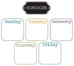 Very Cool Homework Chart Print And Frame In Dollar Store