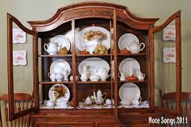 How To Display Dishes In A China Cabinet 48 with How To Display Dishes In A
