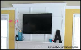 wall mounted tv hide wires fireplace mount above over cords hiding