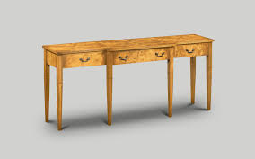 Image 1930s Amc104 Breakfront Serving Table Burr Poplar W152cm60in D51cm20in H76cm30in Elle Decor Art Deco Style Reproduction Furniture Iain James