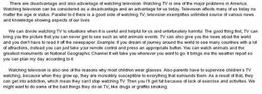 advantages and disadvantages of television essay