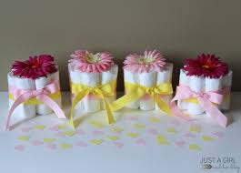 Cute Baby Shower Decorations Sweet And Simple Baby Shower Centerpieces Just A Girl And Her Blog