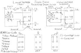reversing single phase motor wiring diagram peter novice home use a 3 pole reversing contactor for 1 phase 220 page 2