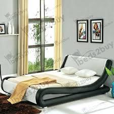 designer leather bed modern beds uk