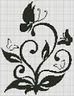 Схема вышивки монохромные пара