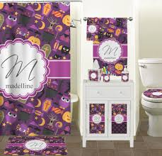 Halloween Bathroom Accessories Halloween Shower Curtain Personalized Potty Training Concepts