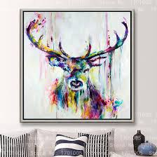 free colorful cool deer female painting lovely painting art canvas wall hanging art deco picture modern room decorative in painting calligraphy