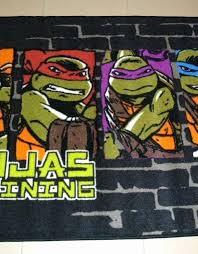 unique ninja turtle bathroom rug rugs idea pixelated teenage mutant