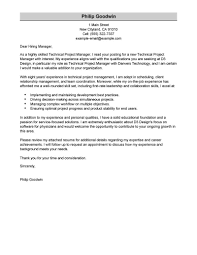 Technical Clerk Sample Resume Best Technical Project Manager Cover Letter Examples LiveCareer 22