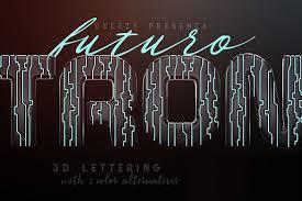 tron futuro 3d lettering exle image 1