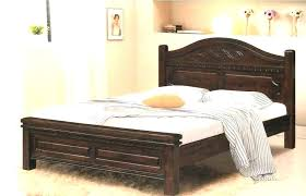 King Bed Frame With Headboard And Footboard Wood Bed Frame With ...
