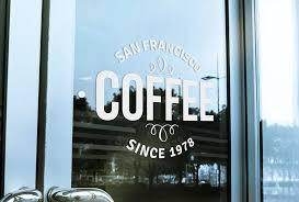 free logo mockup window signage logo mockup