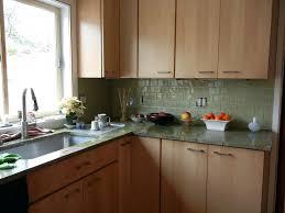 green subway tile kitchen backsplash green glass subway tile with maple  cabinets kitchen enchanting green glass