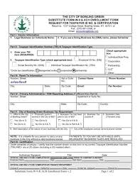 We do not send unsolicited emails. Substitute Form W 9 New Vendor Form And City Of Bowling Green