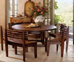 round dining room table sets with benches quickhomedesign in wooden kitchen and chairs inspirations 8
