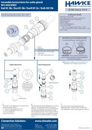 Hawke Universal Cable Glands Installation Instruction