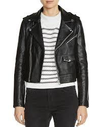 maje baltika leather biker jacket