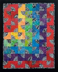 Create Dazzling Contemporary Art Quilts with Craftsy Kits! & Modern Rainbow Drunkard's Path quilt Adamdwight.com