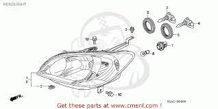 2005 Honda Civic Light Bulb Honda Civic 2005 5 4dr Dx Air Conditioner Ka Headlight