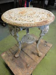victorian cast iron table and chairs