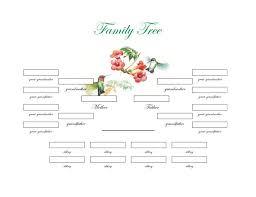 Free Printable Family Tree Template Ellipsis