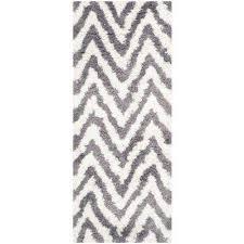 chevron ivory gray 2 ft x 6 ft runner rug