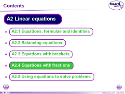 a2 4 equations with fractions