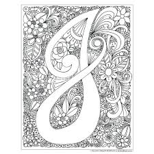 J Coloring Pages Instant Digital Download Adult Coloring Page Letter