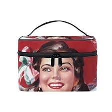 mamacool vine mexican pin up art cosmetic bags for women travel makeup toiletry organizer case
