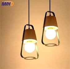 japanese light fixtures style bathroom hanging lamp ceiling simple wood modern led pendant for dining room