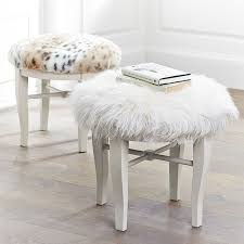 how to build a vanity stool. Diy Faux Fur Vanity Stool Tutorial On How To Build