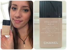 chanel vitalumiere aqua foundation review quick review pact makeup chanel chanel