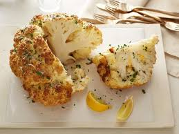 roasted cauliflower recipes. MustardParmesan Whole Roasted Cauliflower Recipe Food Network Kitchen Throughout Recipes
