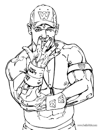 John Cena Coloring Page Wwe Party Wwe Coloring Pages Wrestling